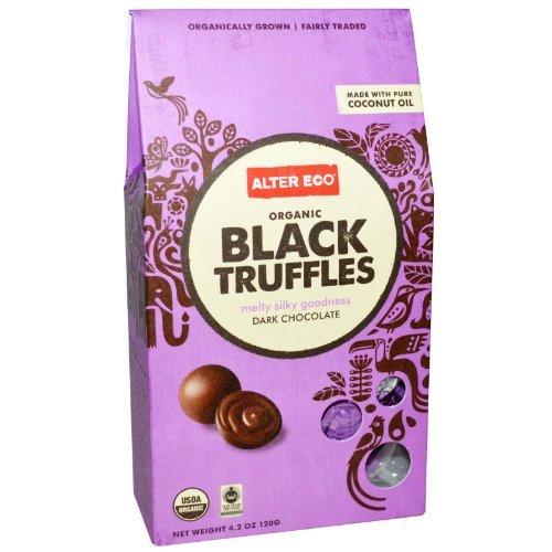 Organic Black Truffles Dark Chocolate 4.20 Ounces (Case of 8)