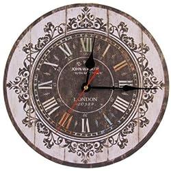Europe Stylish Retro Tracery Vintage Wall Clock Rustic Shabby Chic Home Office Study Cafe Decoration Art Large Clocks 1597143