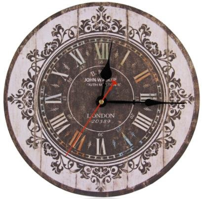 Europe Stylish Retro Tracery Vintage Wall Clock Rustic Shabby Chic Home Office Study Cafe Decoration Art Large Clocks - Outlet Edinburgh Hours