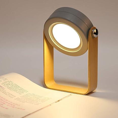 BLOOMWIN Lámpara de Mesa Mesilla Noche Led Linterna Regulable Luz de Lectura Nocturna para Dormitorio Bebé Niños Infantil Escritorio Plegable ...