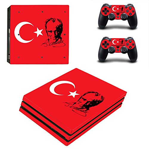 MightyStickers - Turkey's President Recep Tayyip Erdogan PS4 Pro Console Wrap Cover Skins Vinyl Sticker Decal Protective for Sony PlayStation 4 Pro + 2 Controller