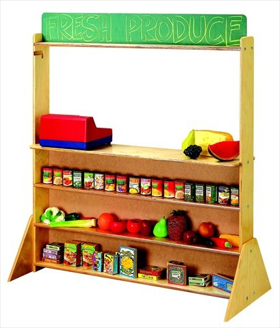 Childcraft 071727 Play Store And Puppet Theatre44; Chalkboard Panels