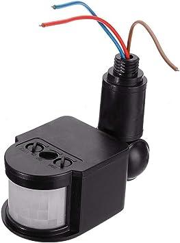 Interruptor detector de movimiento para exteriores, sensor de movimiento PIR, interruptor de luz de pared de 180 grados, interruptor de luz de pared 110-220 V, IP44 para corredor, garaje: Amazon.es: Bricolaje y