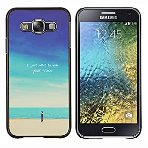 - Cartoon on Beach - - Cubierta del caso de impacto con el patr??n Art Designs FOR Samsung Galaxy E5 E500 Queen Pattern