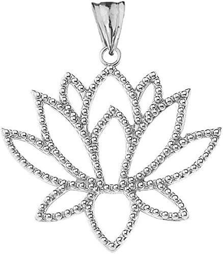 Elegant Gift Box Lotus Flower Necklace Silver Infinity Pendant
