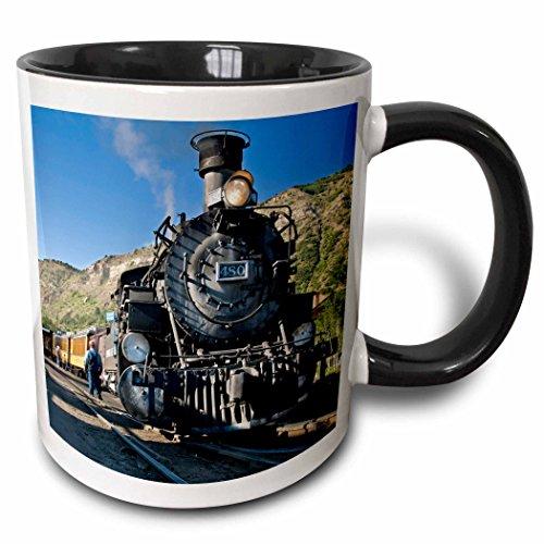 3dRose Danita Delimont - Trains - Durango and Silverton narrow guage Railroad, Trains - US06 LKL0010 - Lee Klopfer - 11oz Two-Tone Black Mug (mug_88941_4) - Silverton Four Light