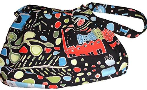 Atelier créatif Jessica Schumann Sac à main-Parent, Borsa A Spalla Donna (Noir multicolore)