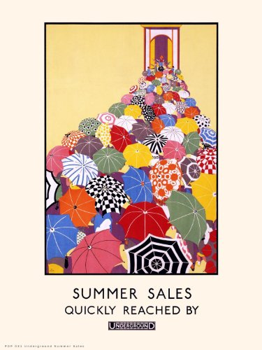 London Underground Summer sales Vintage Railway Poster PDP31 ()