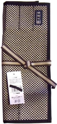 職人道楽 鑿巻、道具巻 10本収納可能 二重刺子 黒色
