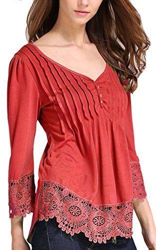 angashion-womens-flare-sleeve-lace-splice-loose-trim-casual-blouse-t-shirt-tops