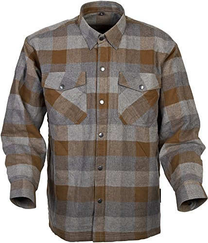 Scorpion Covert Flannel Reinforced/Kevlar Lined Protective Shirt (Tan/Brown, Medium)