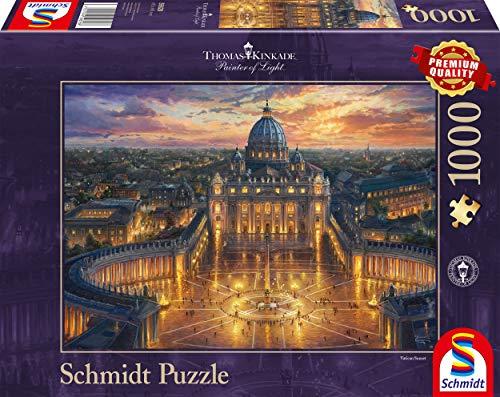 Schmidt Spiele 59628 Puzzlethomas Kinkade Vaticano 1000 Pezzi Multicolore