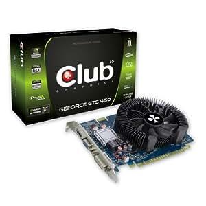 CLUB3D GeForce GTS 450 NVIDIA GeForce GTS 450 1GB - Tarjeta gráfica (NVIDIA, GeForce GTS 450, 2560 x 1600 Pixeles, 1 GB, 128 Bit, 1200 MHz)