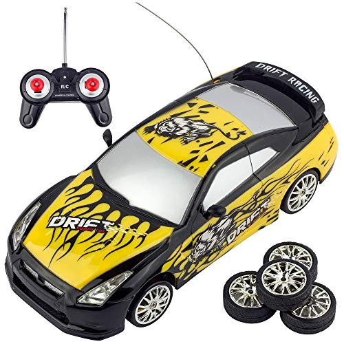 Liberty Imports Super Fast Drift Champion R/C Sports Car Remote Control Drifting Race Car 1:24 + Headlights, Backlights, Side Lights + 2 Sets of Tires from Liberty Imports