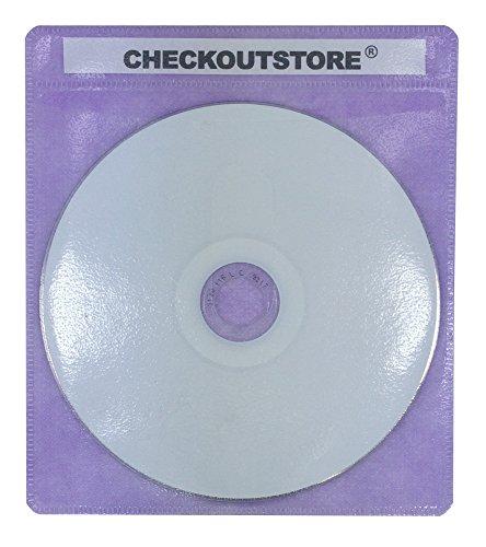 CheckOutStore (200) PREMIUM CD Double-sided Storage Plastic Sleeve (Purple)