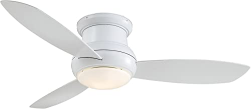 Minka Aire F474L-WH Concept II – 52 Inch Ceiling Fan with Light Kit, White Finish with White Blade Finish with White Glass