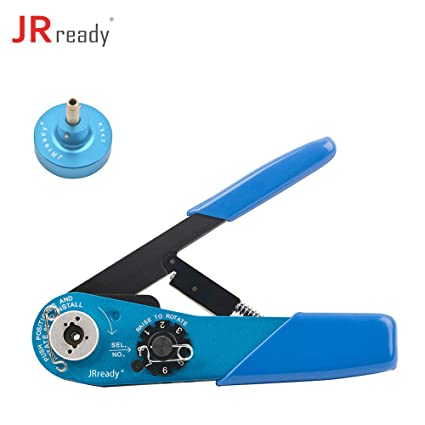 JRREADY ST1113 Crimp Kit: YJQ-W1A Coaxial Cable Crimper + K342 Positioner, 8