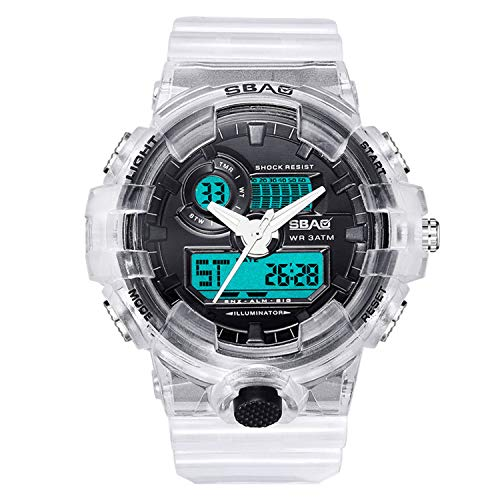 (Londony◈ Mens Military Multifunction Digital LED Watch Electronic Waterproof Alarm Quartz Sports Watch Outdoor Watches)