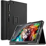 IVSO AT&T Primetime 10 Inch Tablet Case Leather Stand Cover Case for 10 Inch AT&T Primetime / ZTE Primetime K92 4G LTE Tablet 2017 Release (Black)