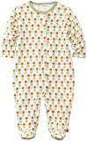 Zutano Unisex-baby Infant Sunset Dots Organic Footie, Sunset, 9 Months