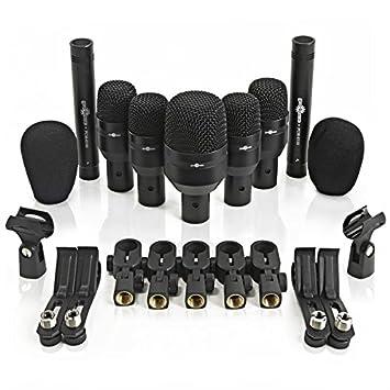 Juego de 7 Micrófonos de Batería + Funda de Gear4music