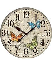 Wooden wall clock 40 cm