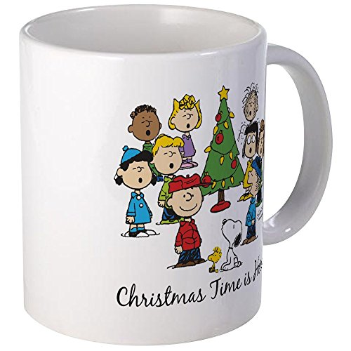 CafePress - The Peanuts Gang: Christmas Is Here Mug - Unique Coffee Mug, Coffee Cup (Coffee Gang Peanuts Cup)