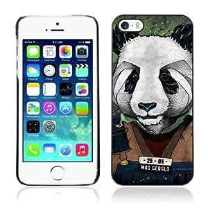 Designer Depo Hard Protection Case for Apple iPhone 5 5S / Cool Panda Mug Shot Art