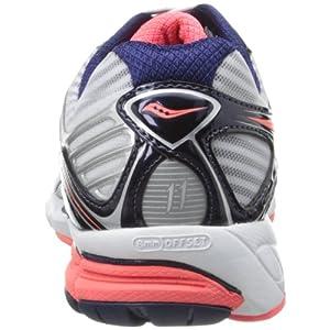 Saucony Women's Triumph 11 Running Shoe,White/Vizicoral/Navy,6.5 W US