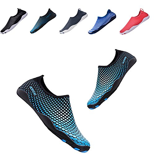 Mens Athletic Aqua Water Shoes Socks For Pool Park Blue/Camou US 11-13 Women9-11 Men
