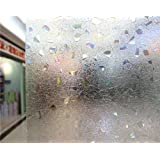 NEO Home Translucent Non Glue 3D Static Window Film Stained Privacy Window Film for Glass Self Adhesive Heat Control Anti Uv.2Ft x 13Ft (60cm x 400cm)