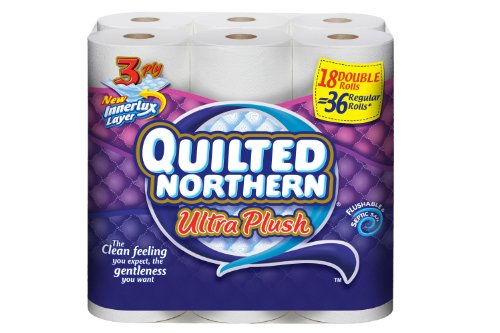 Quilted Northern Ultra Plush Bathroom Tissue, 18 Count (Pack of 2)