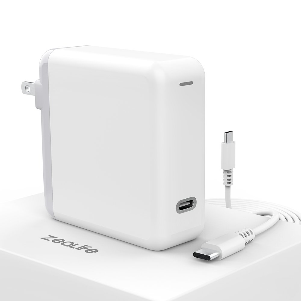 ZeaLife 61W USB C Power Adapter Power Delivery Fast Charge Compatible with MacBook Pro 13-in 2016, 2017, 2018 【 UL Listed 】