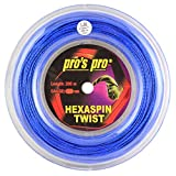 Pro's Pro Hexaspin Twist Blue 1.30mm - Tennis String Reel 200m
