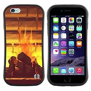 "Hypernova Slim Fit Dual Barniz Protector Caso Case Funda Para Apple (4.7 inches!!!) iPhone 6 / 6S (4.7 INCH) [Doler Místico acuarela abstracta""]"