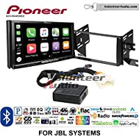 Volunteer Audio Pioneer AVH-W4400NEX Double Din Radio Install Kit with Wireless Apple CarPlay, Android Auto, Bluetooth Fits 2007-2014 Toyota FJ Cruiser with Amplified System