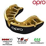 Opro Gold Level Mouthguard, Adult, Black/Gold