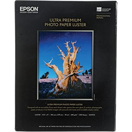 Amazon.com: Premium Luster Photo Paper 8.5IN X 11IN 250 Sheets ...