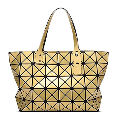 Laoling di a ologramma geometrica yellow a tracolla lunghe maniche Tote forma Borsa per borsa new a black geometrica St0Sr