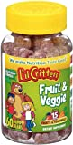 L'il Critters Fruit & Veggie Bears Dietary Supplement, Assorted Flavors, 60-Count Bottles (Pack of 4)