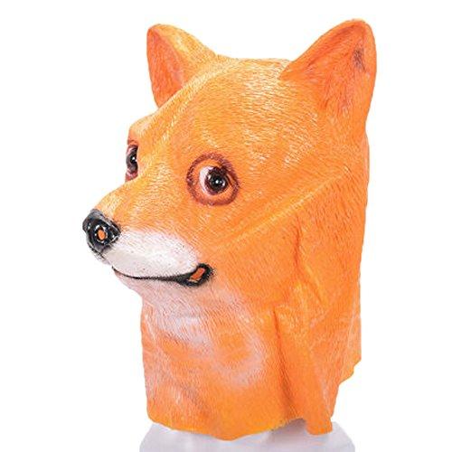 UOKNICE Halloween Party Dog Latex Mask -
