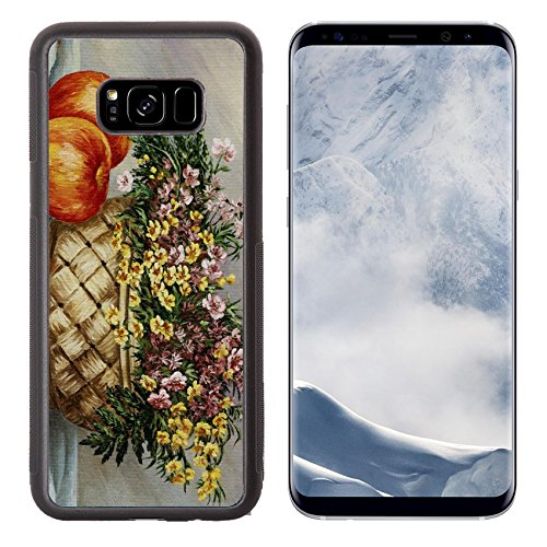 Liili Premium Samsung Galaxy S8 Plus Aluminum Backplate Bumper Snap Case Picture oil paints on a canvas wattled basket with buttercups and red apples Photo 6964749 Simple Snap Carrying