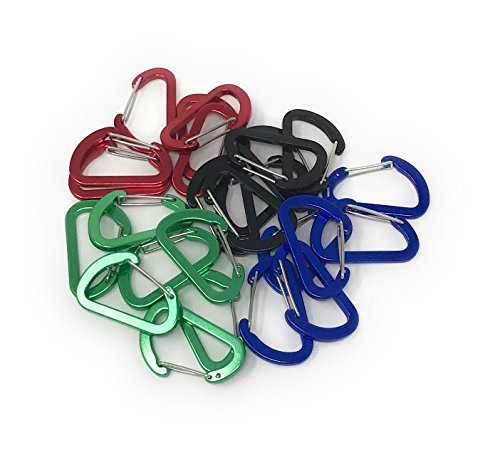 SVT 24 Bulk Mini Carabiner Keychain - Wiregate Closure for Simplicity, Durability and Security