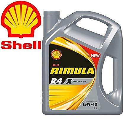 Shell rimula R4 X 15 W40 Ci4 E7 DH1 - Aceite motor diesel para ...