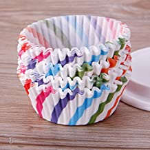TR.OD 100Pcs Baking Cup/Cupcake Paper/Cupcake Liners Flower Pattern Case Wedding Wrapper Muffin Cupcake Liners, 1