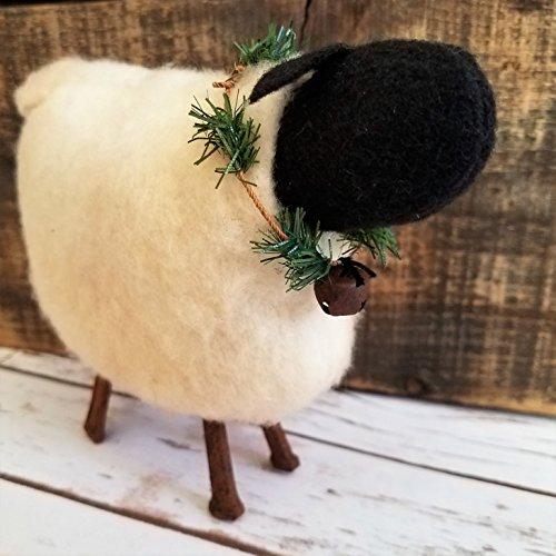 Primitive Folk Art Rustic Farmhouse Sheep Shelf Sitter Art Doll (Primitive Country Art Folk)