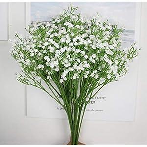 Haoyajia Premium Artificial Flowers 10Pcs Baby-Breath/Gypsophila Artificial Fake PU Plants Wedding Party Decoration DIY 10pc Artificial Baby Breath Gypsophila Flower Wedding Home Decor Gift 87