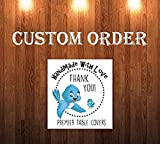 Custom Order 6 foot Folding Table fitted table cover. Eagles Print