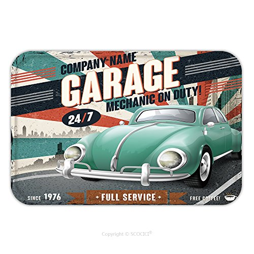 Flannel Microfiber Non-slip Rubber Backing Soft Absorbent Doormat Mat Rug Carpet Cuba Pigs Bay January 5Vintage American Car At The Beach January 5,2013 In Havana.Until A Recent Law Passed In - Sale Cats Havana For