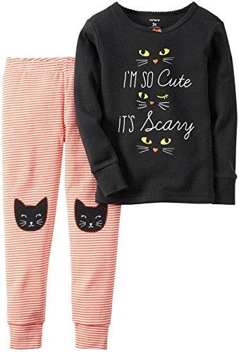 Carter's Girl's 2 Piece Halloween Pajama Set Pjs Size 3T